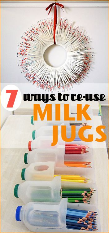 7 Things to do with Milk Jugs and Cartons.  Get crafty or organize with these great ideas.