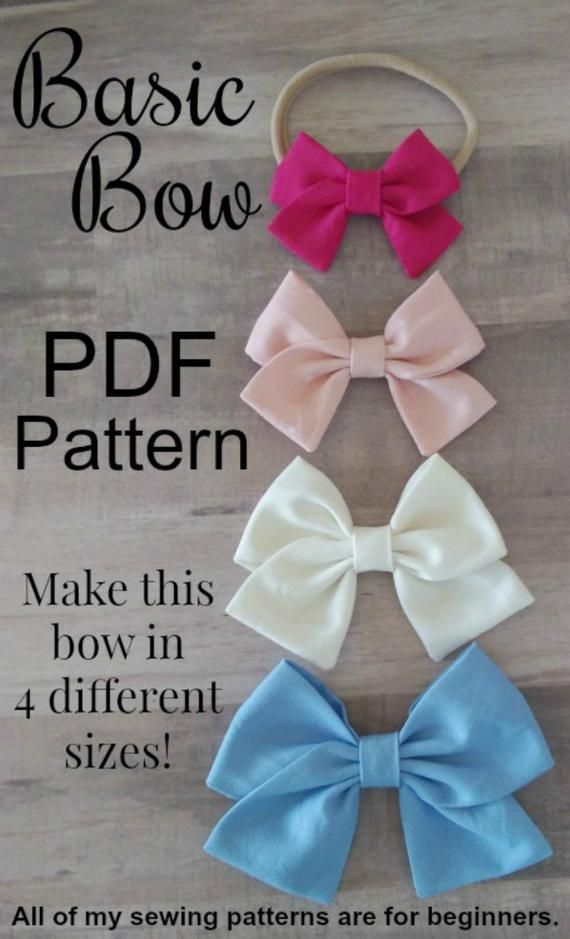 New Bow Pdf Pattern Bundle School Girl Bow Pattern Sailor Bow