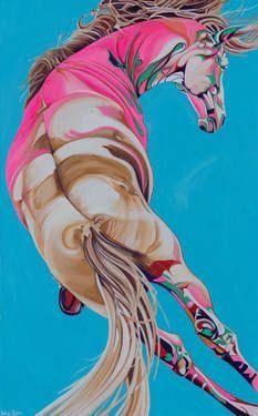"""Saatchi Art Artist Yaheya Pasha; Painting, """"Titus"""" #Saatchi Art #Artist #Yaheya Pasha #Painting #art #equestrian #horse #equine"""