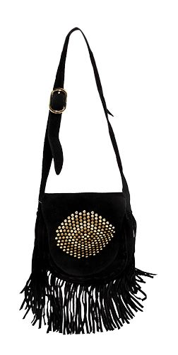 Steve Madden Black tassle bag