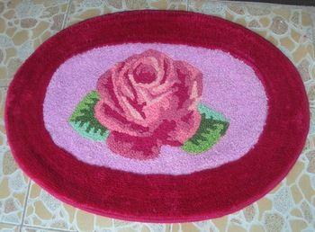 Ручной работы ковер / ковер украшения роза коврик для внутреннего / на открытом воздухе молитесь ковер