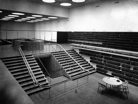 Выборгская городская библиотека, интерьер.