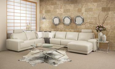 Nebraska 6 Piece Modular Leather Lounge
