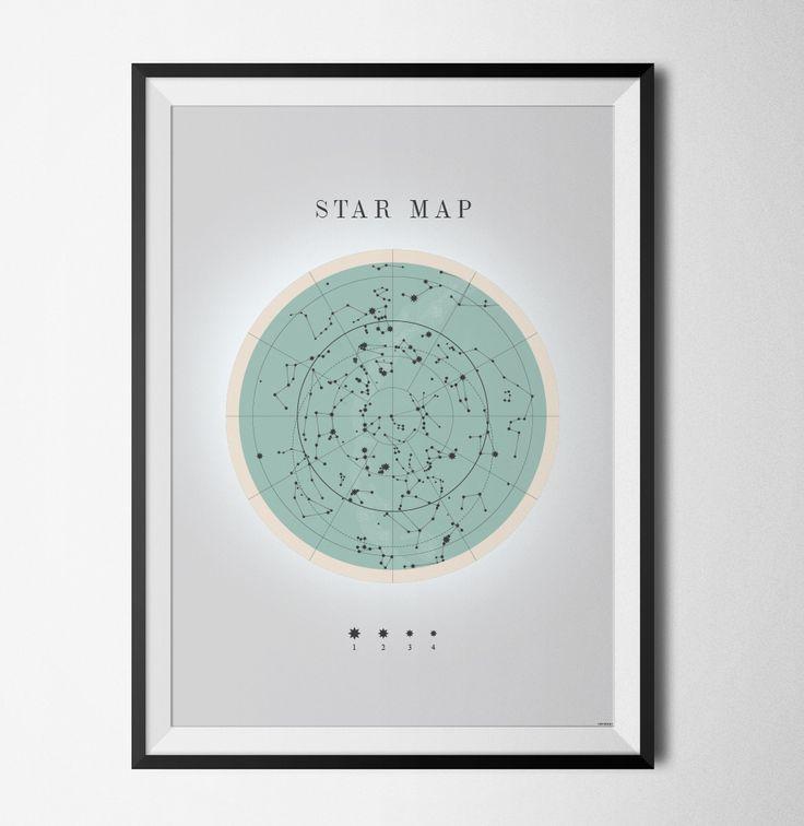 Star map poster från Konstgaraget hos ConfidentLiving.se