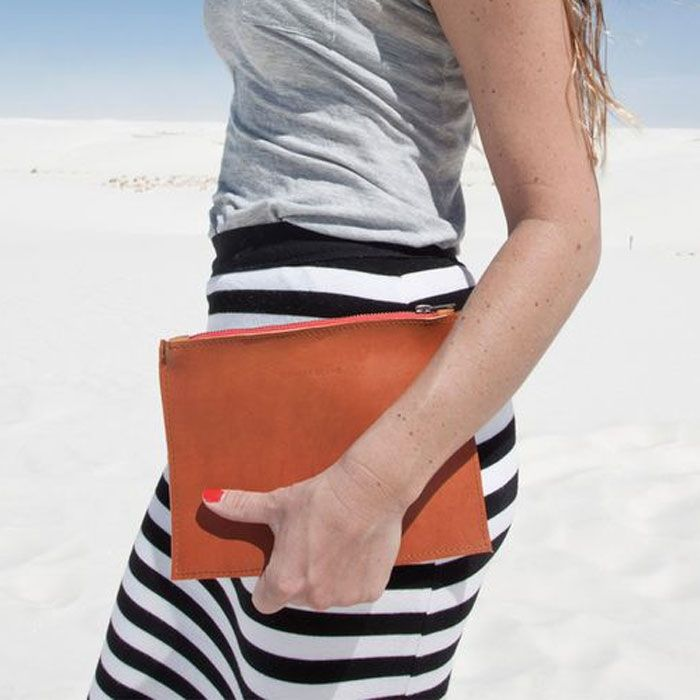 Zip Pouch Clutch // hand constructed by Spencer Devine