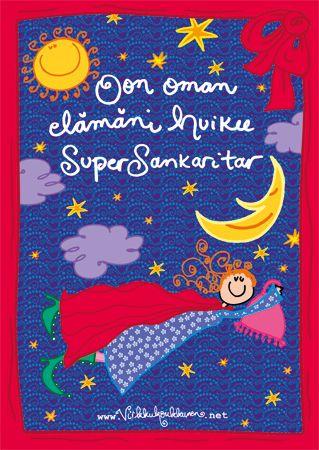 """""""SuperSankaritar"""" A4-kokoinen sähköstaattinen juliste"""