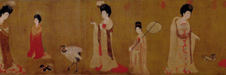 Titulo:Señoras de la corte con tocados floreados Autor: Zhou fang