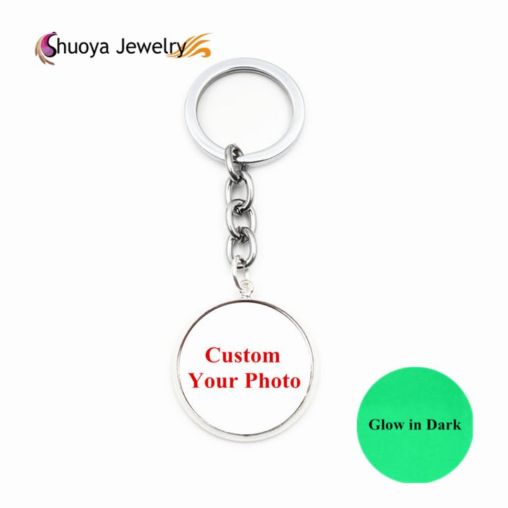 Custom Key Chains Glow In The Dark S&Y 2016 New Fashion Antique Copper Silver Glass Glowing Keychains Personalized Key Chains
