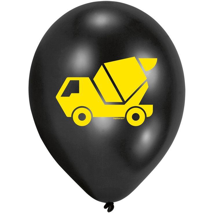 10 ballons chantier de construction pour l'anniversaire de votre enfant - Annikids