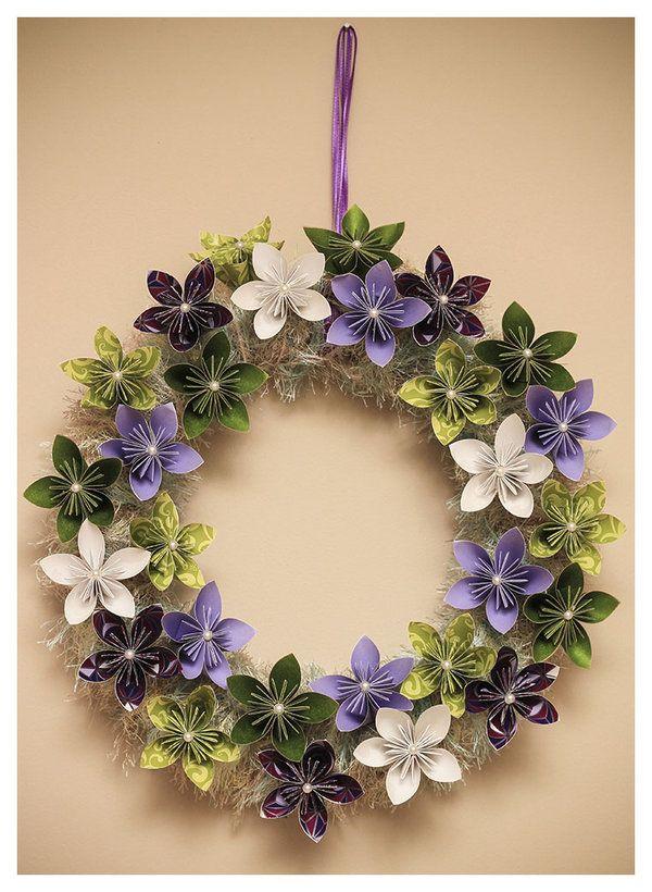 Easter Origami Wreath.