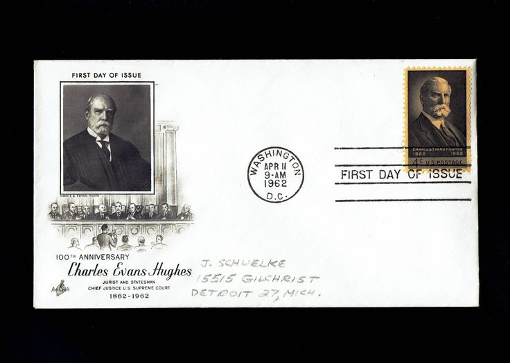US 1195 Charles Evans Hughes Apr 11, 1962 Washington D.C. First Day Cover lot #F1195-1 by VicsStamps on Etsy