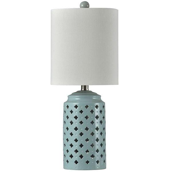Seafoam Open Pattern Table Lamp From Kirkland S Ceramic Table Lamps Table Lamp Lamp