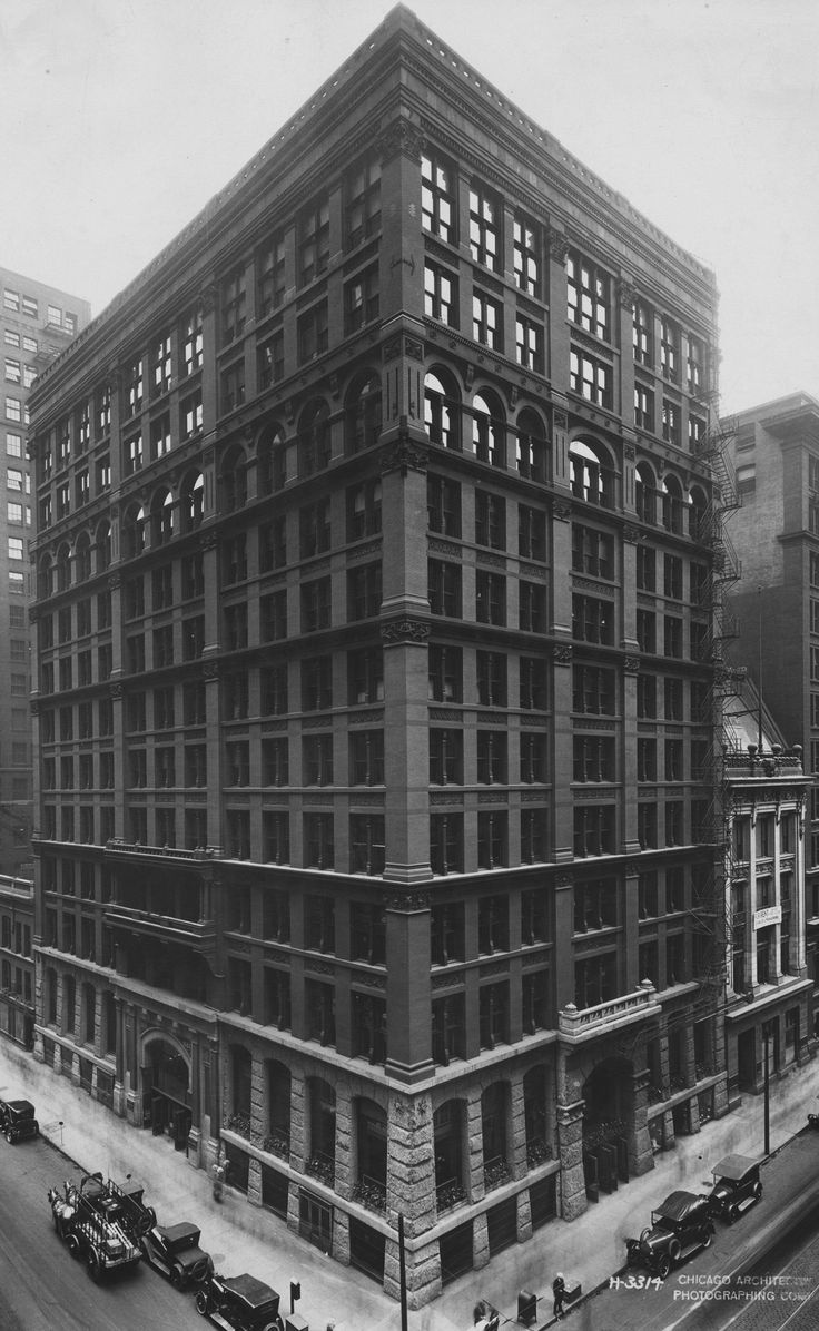 "Home Insurance Building, William Le Baron Jenney (1885), the first steel-frame ""skyscraper"""