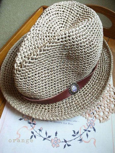Knitting Pattern Trilby Hat : I would love this crochet hat for the beach! Crochet Apparel (Corona) Pin...
