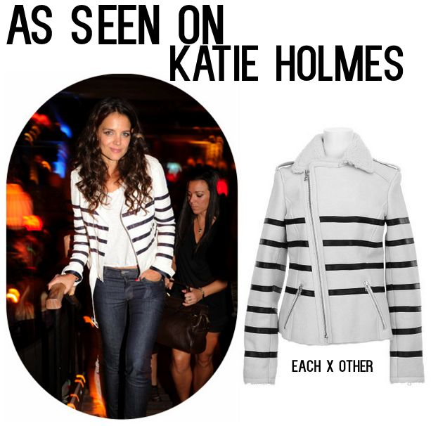 Katie Holmes, Katie Homes Tao Opening, Katie Holmes Leather Jacket, celebrity fashion, celebrity style