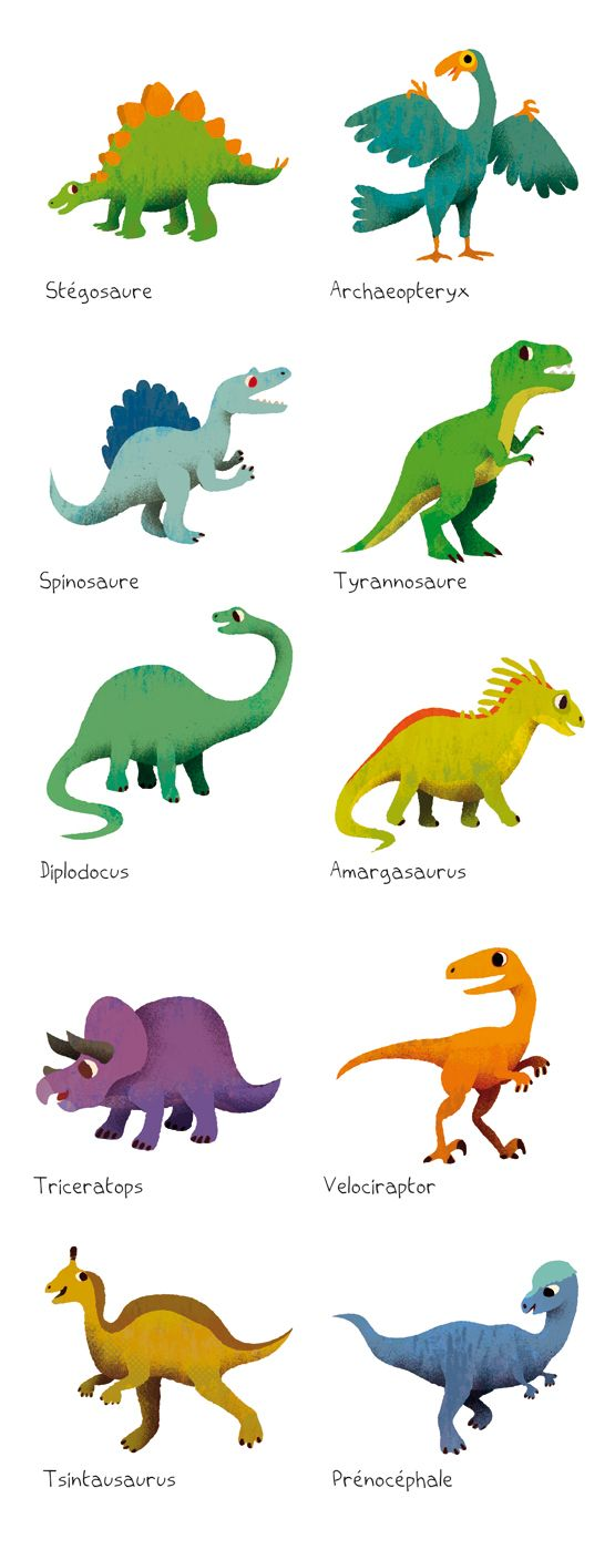 THIERRY BEDOUET - Illustration: Dinosaures