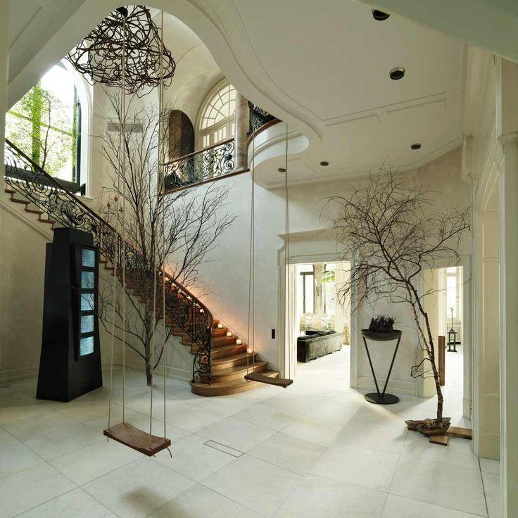 weisses haus - Farbakzente Interieur Einfamilienhaus