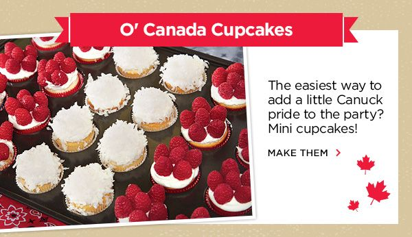 Canada Cupcakes from a Michael's ad.