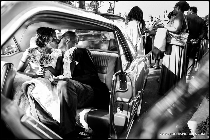 Julia and Dayalan about to set off for the wedding reception -