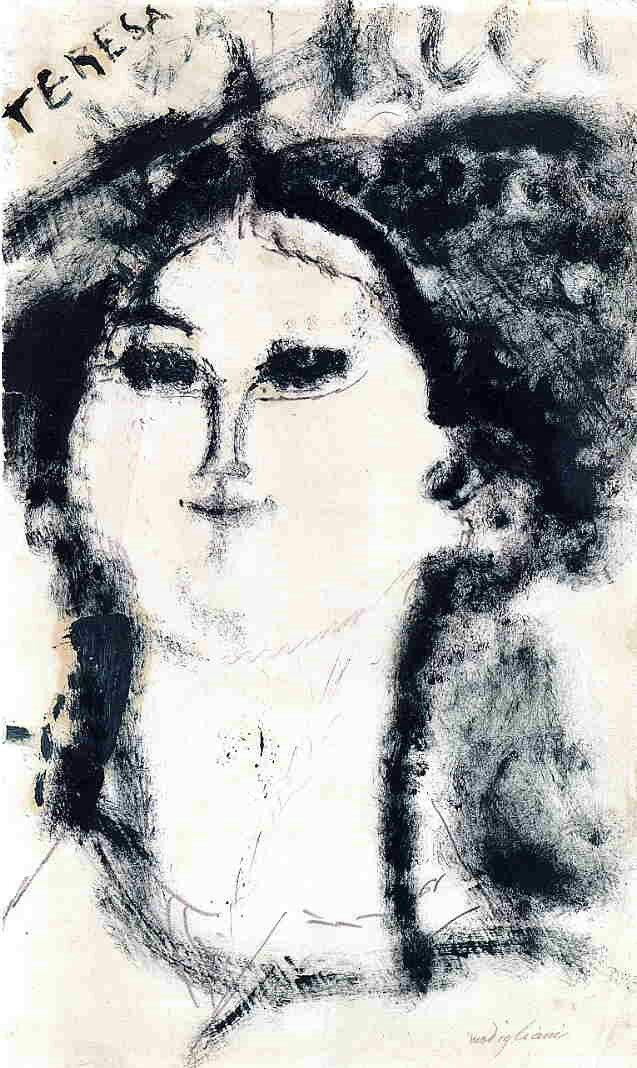 Teresa by Amedeo Modigliani   Size: 43.5x28.5 cm Medium: ink on paper