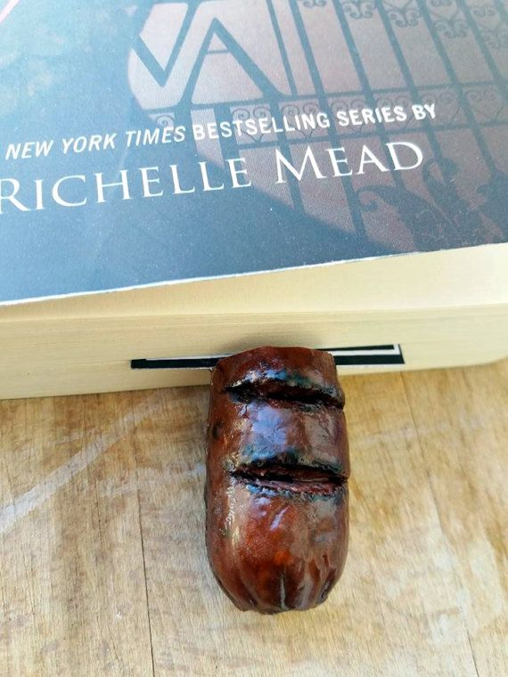 sausage bookmark // cook book bookmark // by bookmarkartypartisan