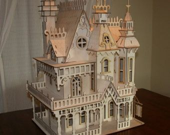 Victorian Doll house Mansion. by SVLaser on Etsy