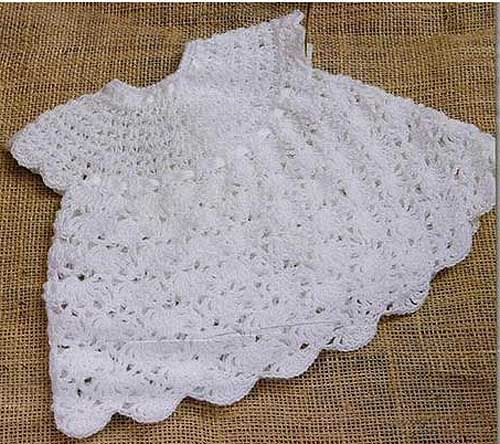 Free Crochet Baby Dress with Diagram
