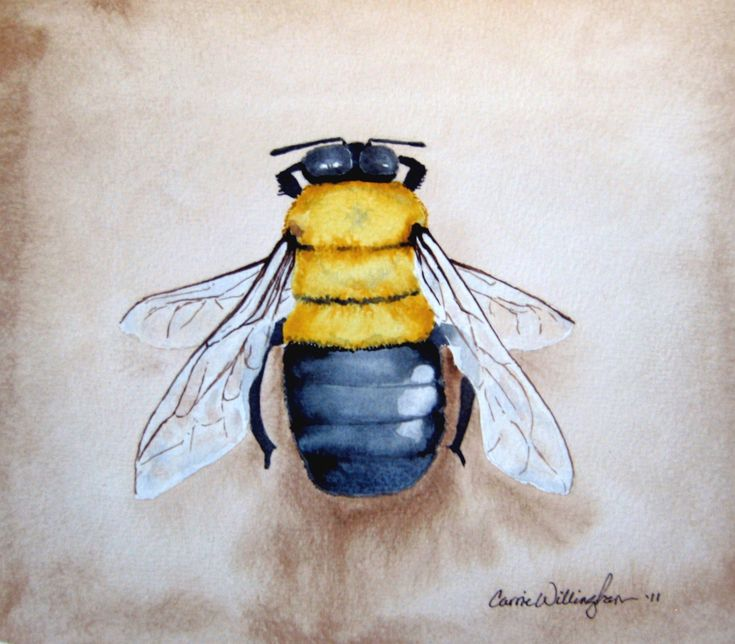 Bumble bee home decor nursery art via etsy for Bumble bee mural
