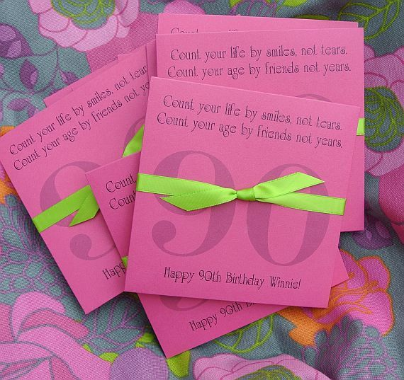 Party Favors For A 90th Birthday