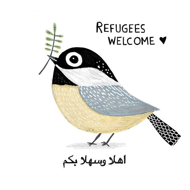 This world needs so much love. ❤️ Let's open our arms, hearts and souls. #refugeeswelcome #refugees #peace