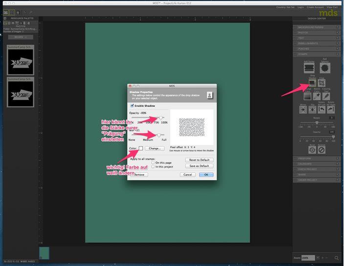 Anleitung - My Digital Studio Karte mit geprägtem Hintergrund