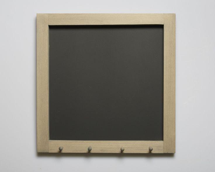 "Chalkboard with Key Hooks (16""x16"") #pintowinMH"