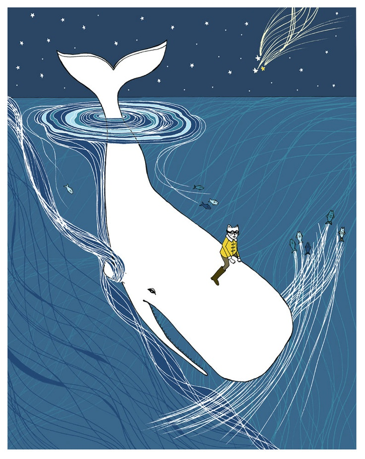 Whale Rider nursery art. Whimsical whale drawing for your child's room.. $32.00, via Etsy.