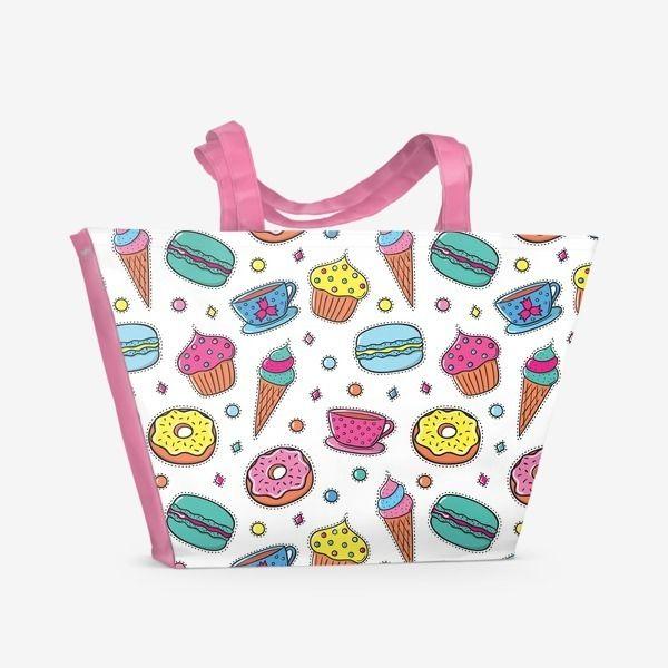 Пляжная сумка «Вкусный паттерн»
