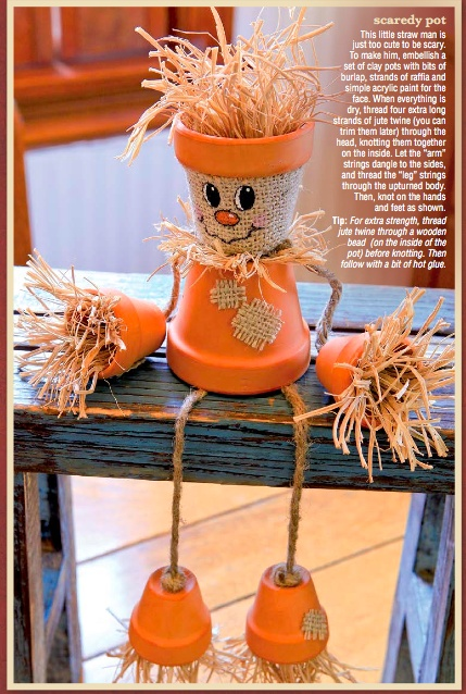 Scarecrow made from clay pots. This is from Hobby Lobby's website.
