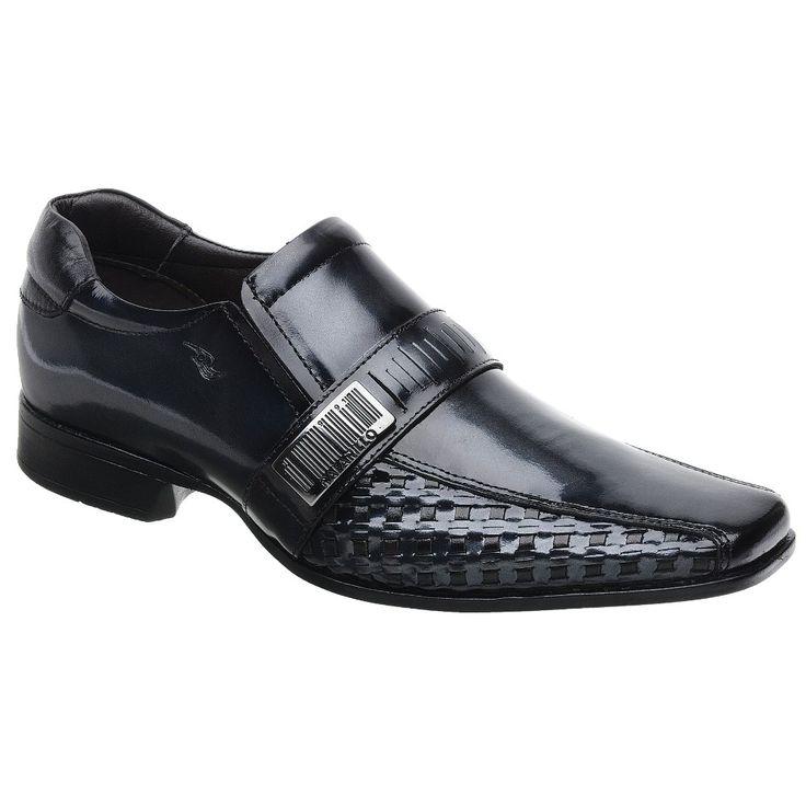 Sapato Rafarillo Las Vegas em Couro Onix com Solado em Borracha 79166 - FKV Calçados