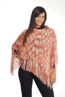Tricotando com Amor: Poncho em Tricô - Receita do Site Vitória Quintal