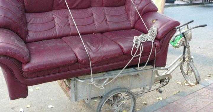 Sub standard, sofa delivery in the Sub continent