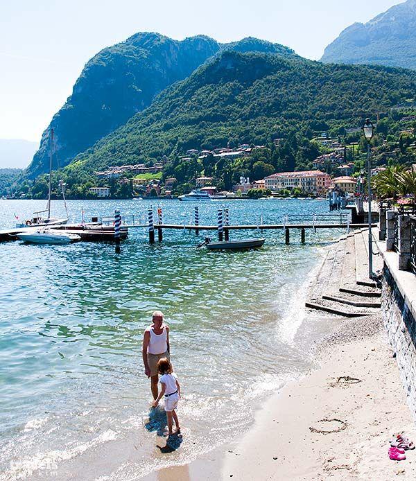 A little beach in Menaggio - Lake Como | Una piccola spiaggia a Menaggio, sul Lago di Como www.agriturismolagodicomo.net