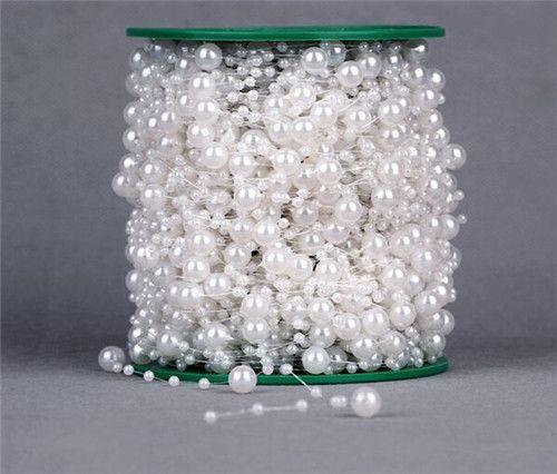 Alibaba グループ | AliExpress.comの イベント&パーティー用品 からの    長さ: 5m余り花輪を切ることができますとビーズを任意の長さに落ちる文句オフ。私たちのビーズを作成しまたは美しい装飾的な目的のための背景あなたの家を活性化し、 オフィスや寮のインテリアこれらの豪華な 中の 新しい5メートル釣り糸人工真珠ビーズチェーンガーランド花の結婚披露宴の装飾製品の供給