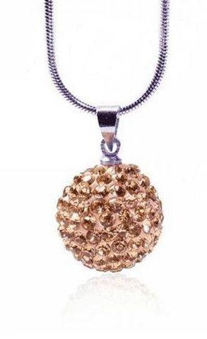 Infinity Shamballa Ball Necklace Gold