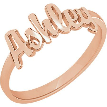 Custom 14K Rose Gold Vermeil Script Name Ring  - tap, personalize, buy right now!