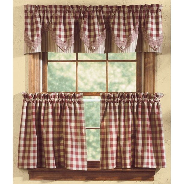 Park Designs York Wine Country Curtain Tiers Walmart Com In 2020 Country Curtains Curtains Kitchen Curtains