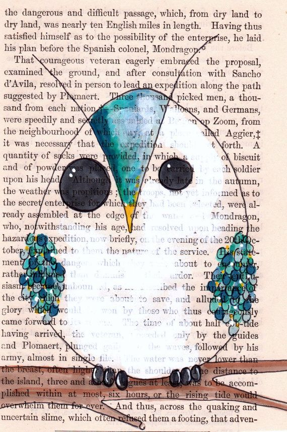 Teal owl 5x7 print of a teal blue owl sitting on by Cookstah, $8.00