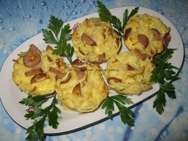 Moje domowe kucharzenie: Mufinki makaronowe