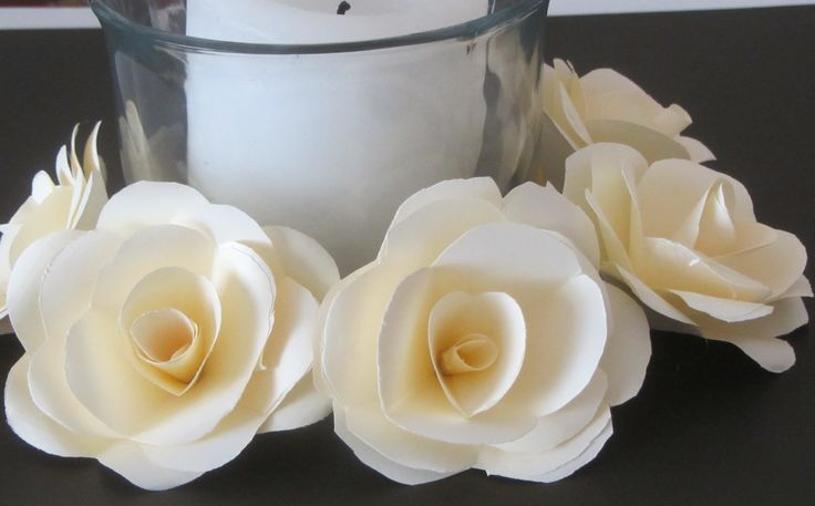 How to Make Paper Roses  Crafts With Paper Tutorial with 4x4 pieces of paper... seems easier