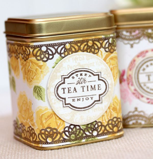 DIY Vintage Tea Tins