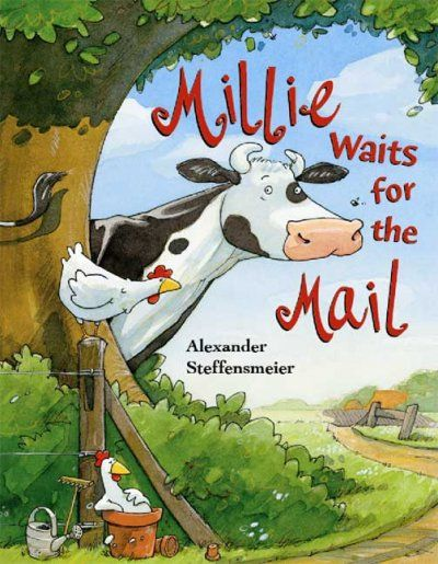 Millie Waits for the Mail by Alexander Steffensmeier - Millie the cow loves to scare the mailman and chase him off the farm, until the mailman comes up with a plan that ends up pleasing everyone. Check it out at your nearest Orange County Public Library.