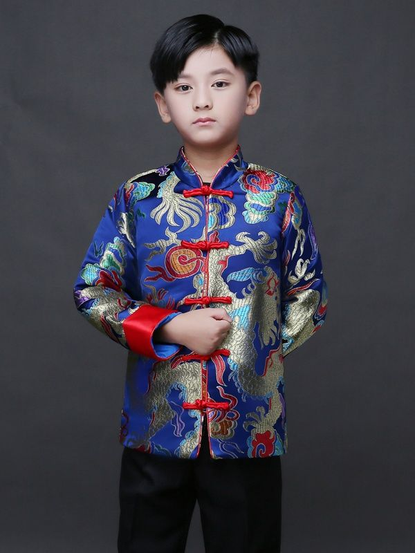 290ae9961 Chinese traditional Tang Jacket for boys | Clothing in 2019 | Chinese  clothing traditional, Chinese clothing, Little boy costumes