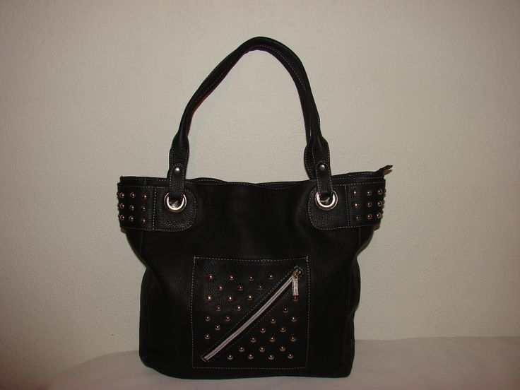 Studded black purse